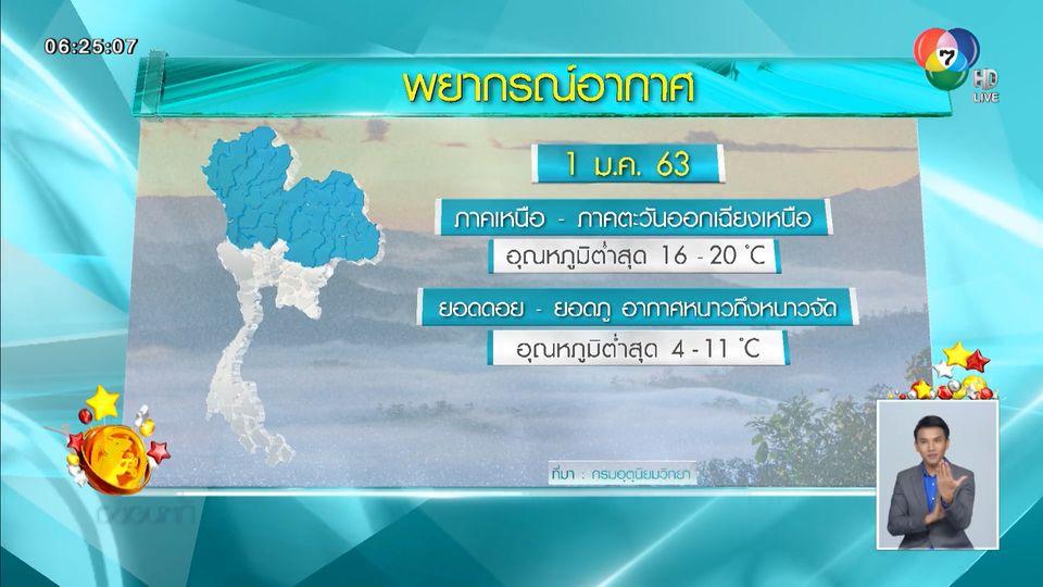 อุตุฯ เผยทั่วไทยอุณหภูมิลดลง อากาศเย็นสบายรับวันปีใหม่
