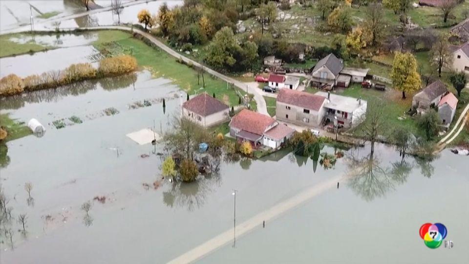 เกิดน้ำท่วมและดินถล่มในหลายพื้นที่ของมอนเตเนโกร
