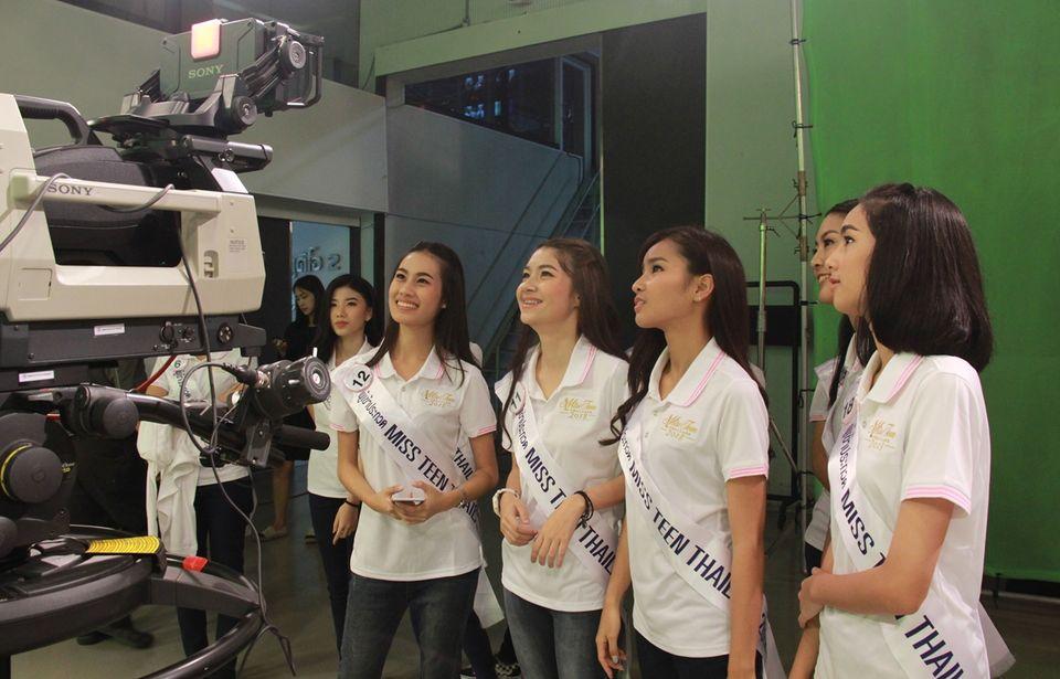 ช่อง 7HD ต้อนรับตัวแทนผู้เข้าประกวดเวทีมิสทีนไทยแลนด์ 2018 บาย ชาเม่ เข้าเยี่ยมชมการถ่ายทำรายการสนามข่าว 7 สี และสนามข่าวบันเทิง