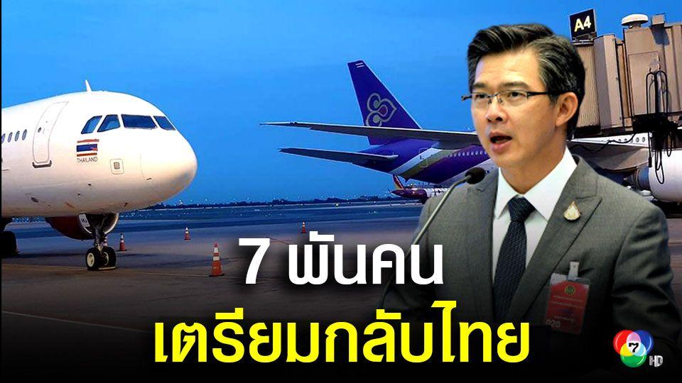 ศบค.เผยมีแผนรับคนไทยจากต่างแดน 7 พันคนกลับบ้าน