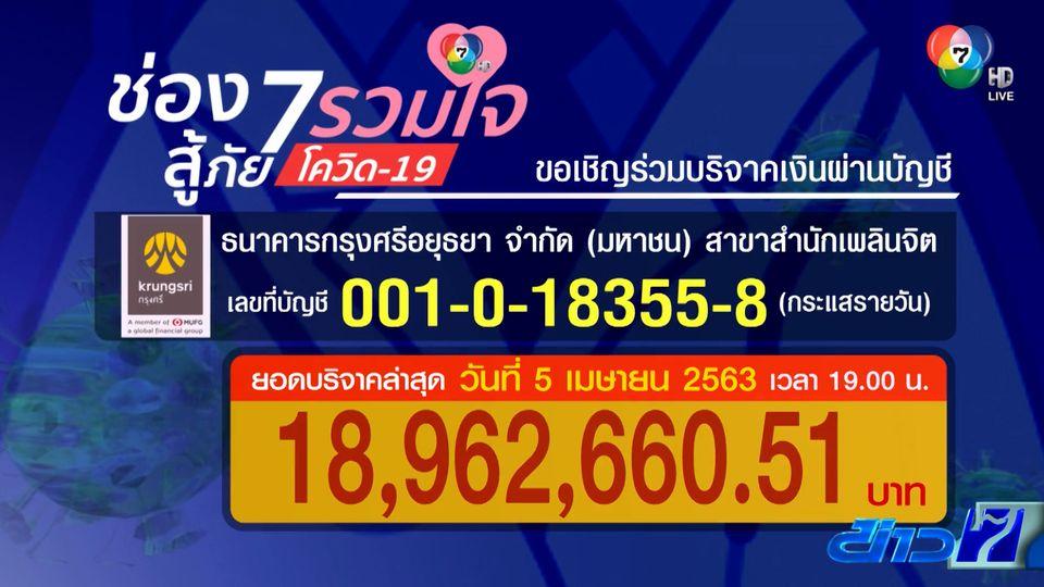 ช่อง 7HD เชิญชวนบริจาคสมทบทุน ช่วย 10 รพ.รัฐทั่วประเทศ