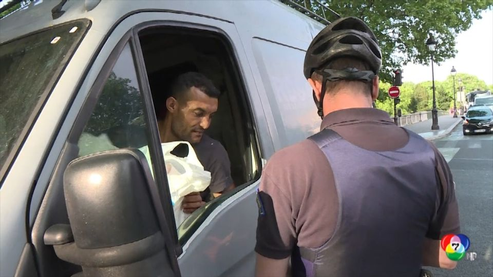 ตำรวจสั่งปรับผู้ขับขี่ที่ละเลยมาตรการลดปัญหาฝุ่นควันในอิตาลี