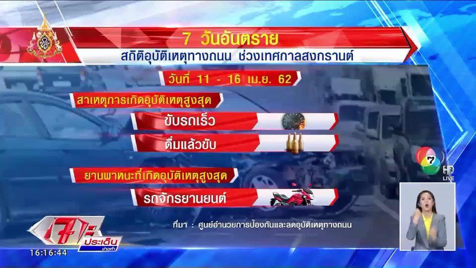 วันที่ 6 ของ 7 วันอันตราย รวมอุบัติเหตุ 3,068 ครั้ง เสียชีวิต 348 คน