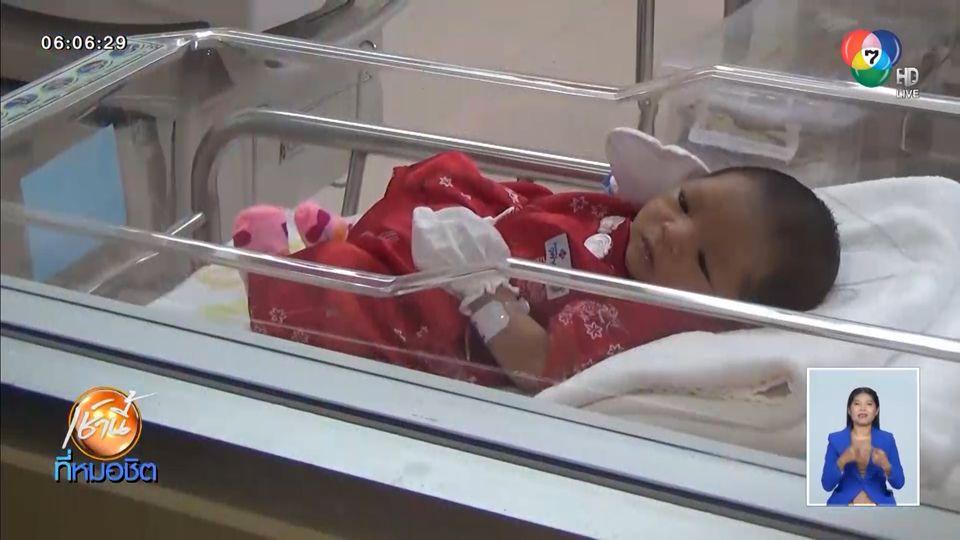 โรงพยาบาลสุดเก๋ แต่งชุดกี่เพ้าสีแดงให้ทารกแรกเกิด ต้อนรับวันตรุษจีน