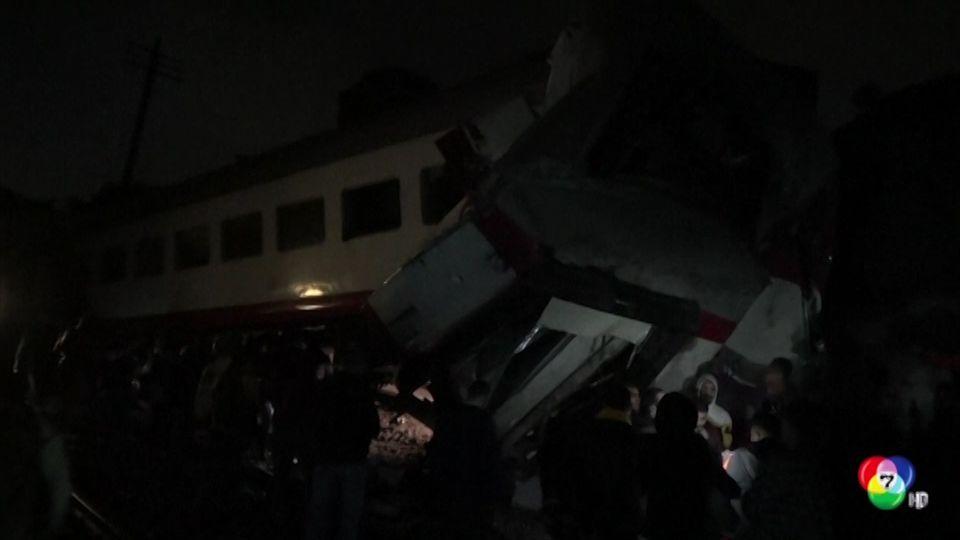 เกิดเหตุรถไฟ 2 ขบวนพุ่งชนกันในกรุงไคโร ของอียิปต์