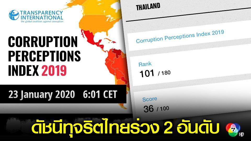 ดัชนีคะแนนทุจริตไทยปี 2019 ร่วง 2 อันดับ