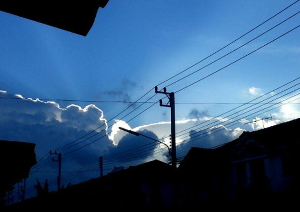 ท้องฟ้ายามเย็นที่ ม.พฤกษา57 ลำลูกกา