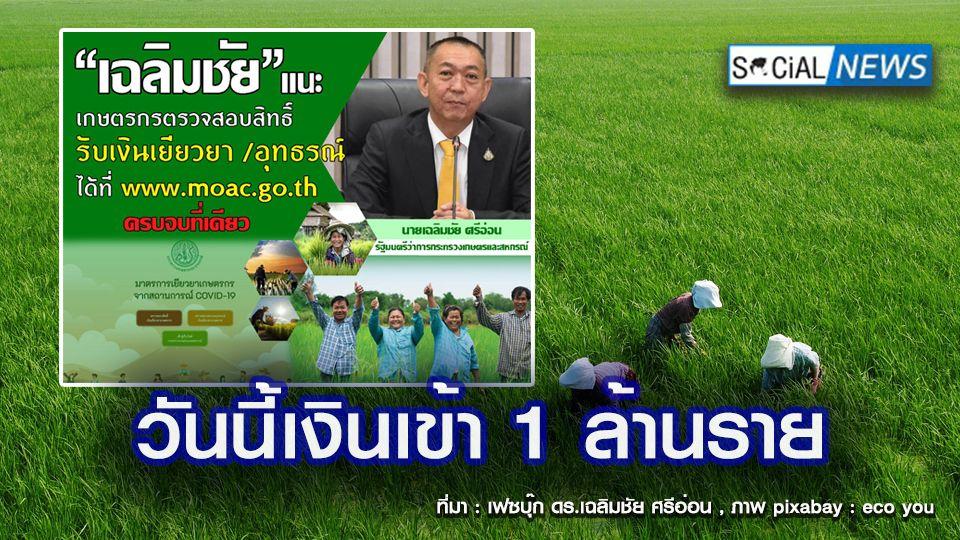 www.moac.go.th เช็กที่เดียวครบ วันนี้โอนเงินเยียวยาเกษตรกร 5,000 บาท