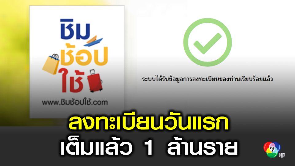 ลงทะเบียน ชิม ช้อป ใช้ วันแรก เต็มแล้ว 1 ล้านราย