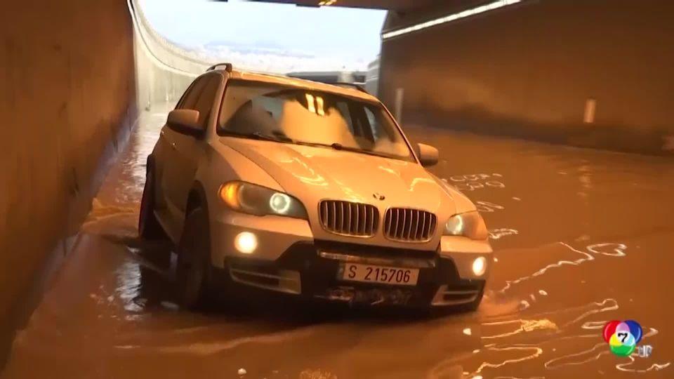 น้ำท่วมหนักในกรุงเบรุตของเลบานอน ชานเมืองได้รับผลกระทบหนักที่สุด