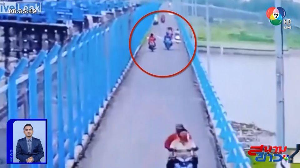 ภาพเป็นข่าว : คนขี่รถ จยย.มักง่าย ขนของยื่นเกินตัวรถ ทำคนอื่นเดือดร้อน