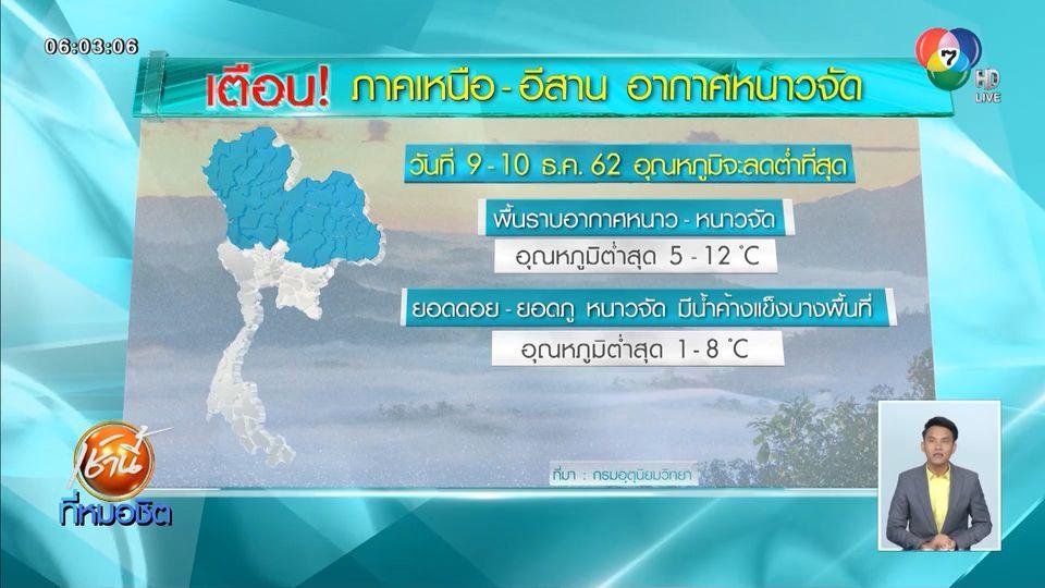 อุตุฯ เผยภาคเหนือ-อีสานยังหนาวจัด กทม.-ปริมณฑลอากาศเย็นอาจแตะ 12 องศาฯ