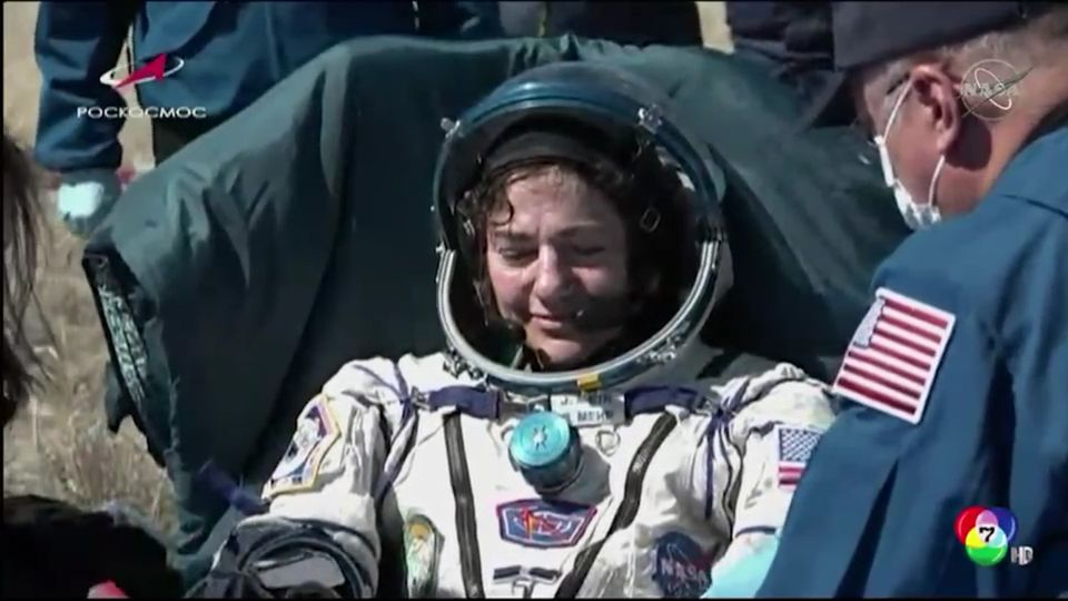 นักบินบนสถานีอวกาศนานาชาติ 3 คน กลับสู่โลกอย่างปลอดภัย