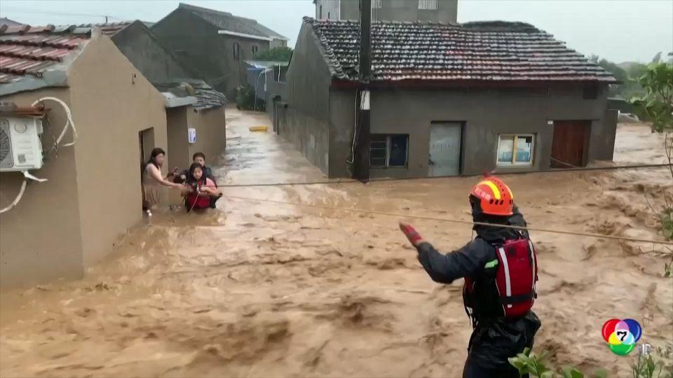 พายุไต้ฝุ่น เลกีมา ถล่มจีน เสียหายกว่า 6 หมื่นล้านบาท