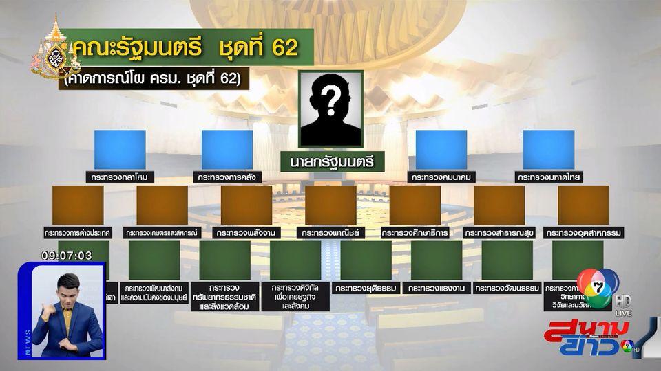 คาดการณ์โผ ครม.จัดตั้งรัฐบาล ประชาธิปัตย์-ภูมิใจไทย คว้าพรรคละ 6 ที่นั่ง