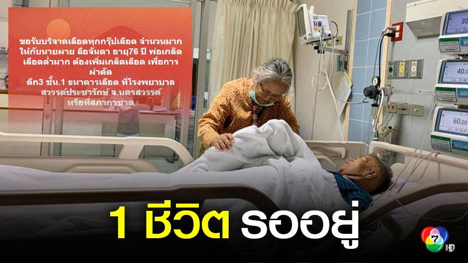 วอนช่วยพ่อป่วยเลือดหัวใจอุดตัน ไตวายเฉียบพลัน