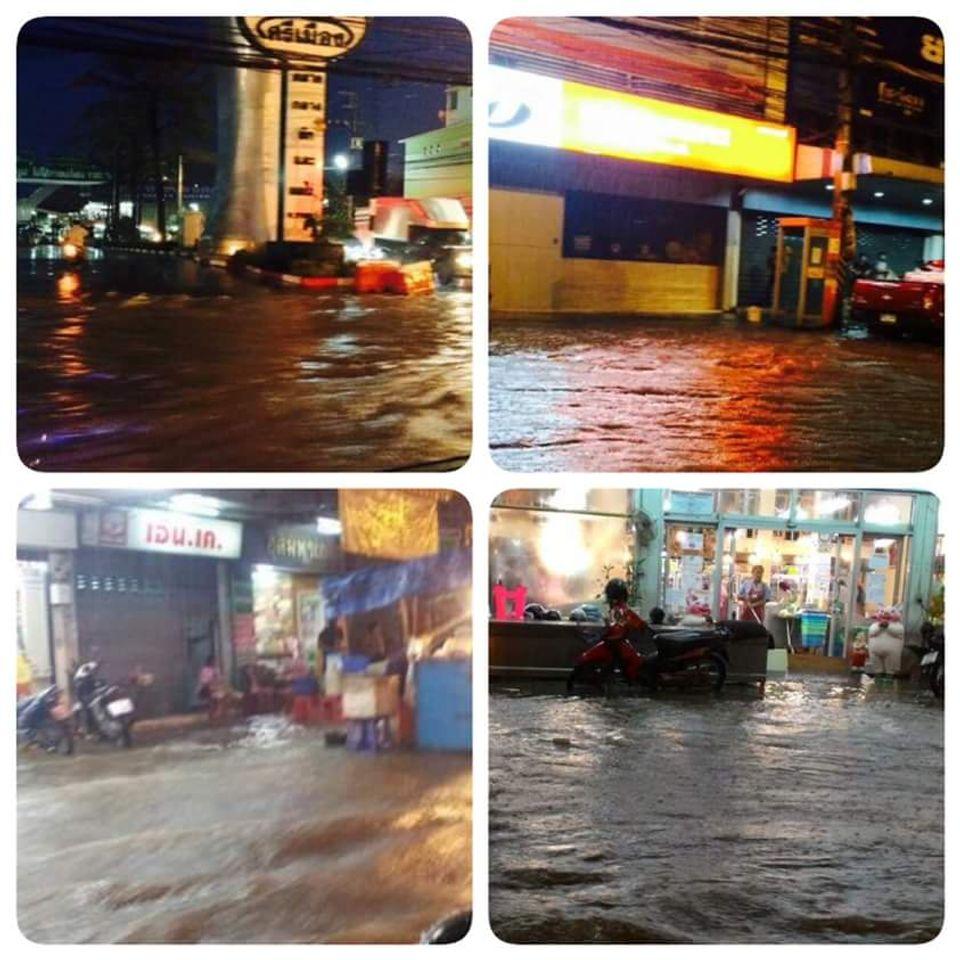 น้ำท่วมขังเขตเทศบาลเมืองราชบุรี