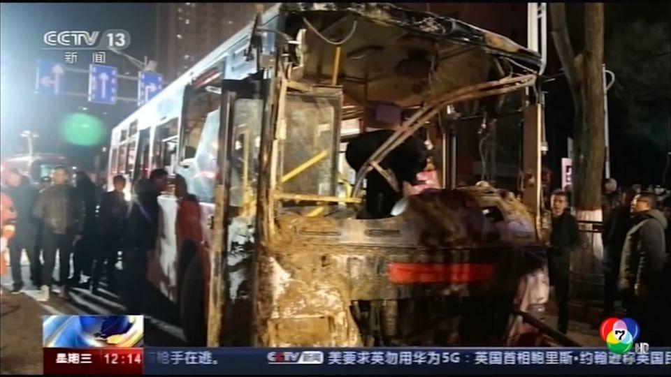 คืบหน้ารถโดยสารตกหลุมยุบในจีน ดับ 9 เจ็บ 17