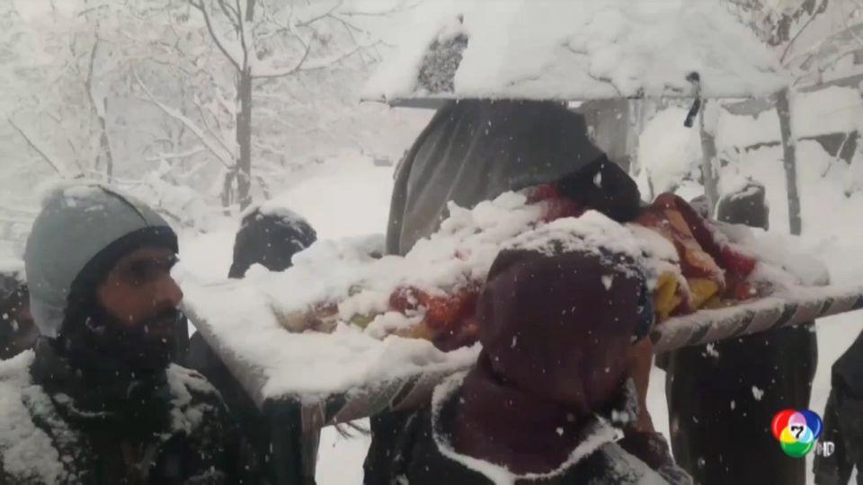 นาทีชีวิต! ทหารอินเดียหามหญิงท้องแก่ ลุยหิมะไปคลอดลูก