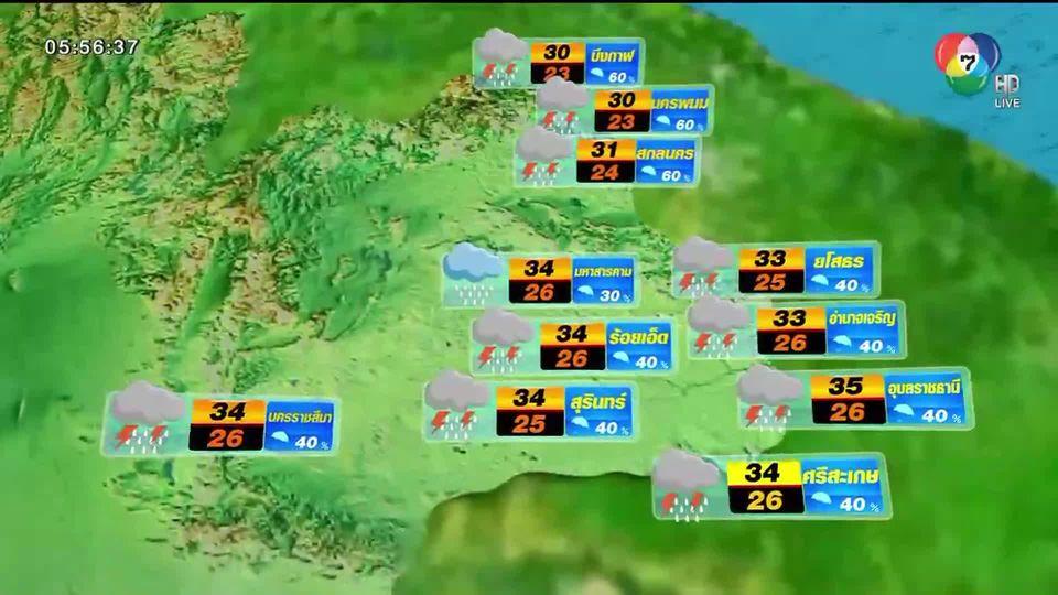 พยากรณ์อากาศวันนี้ 18 มิถุนายน 2563