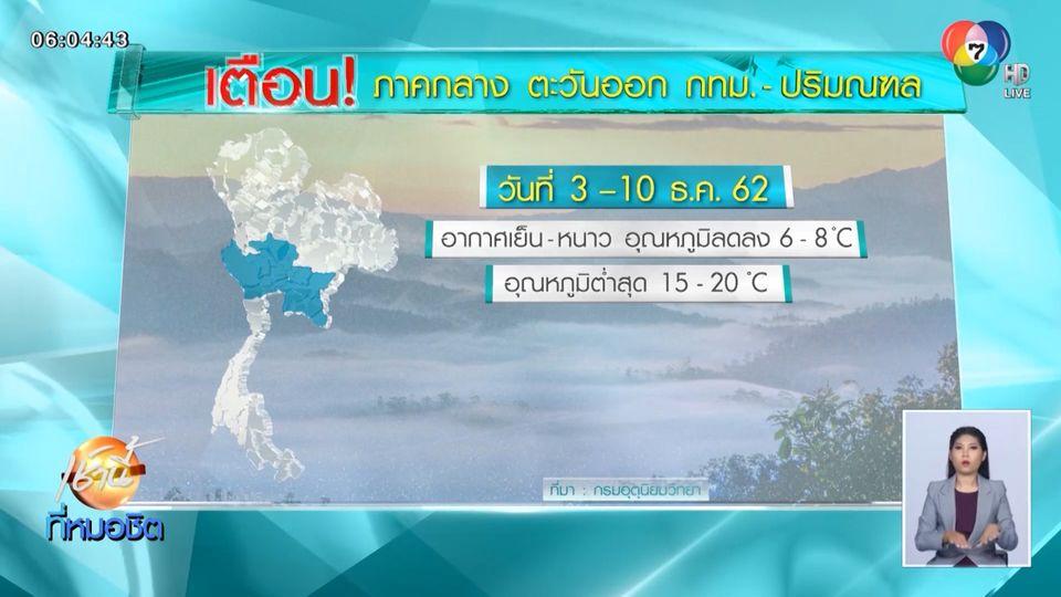 เตือน 3-10 ธ.ค.นี้ เหนือ-อีสาน อุณหภูมิลดฮวบ กทม.หนาวเย็น 15-20 องศาฯ
