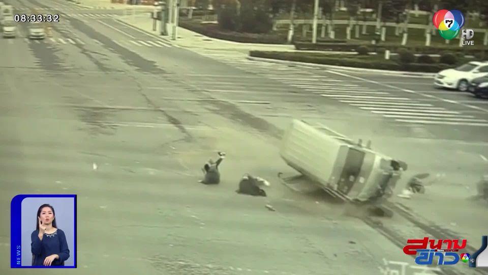 ภาพเป็นข่าว : อุทาหรณ์! นั่งรถต้องคาดเข็มขัดนิรภัย