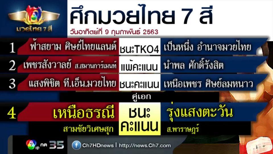 มวยเด็ด วิกหมอชิต : ผลมวยไทย 7 สี 9 ก.พ.63 ฟ้าสยาม ศิษย์ไทยแลนด์ vs เป็นหนึ่ง อำนาจมวยไทย