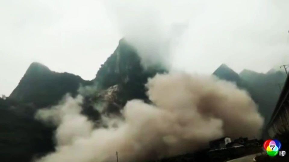 เผยภาพดินถล่มครั้งใหญ่ในจีน ยังไม่พบผู้เสียชีวิต