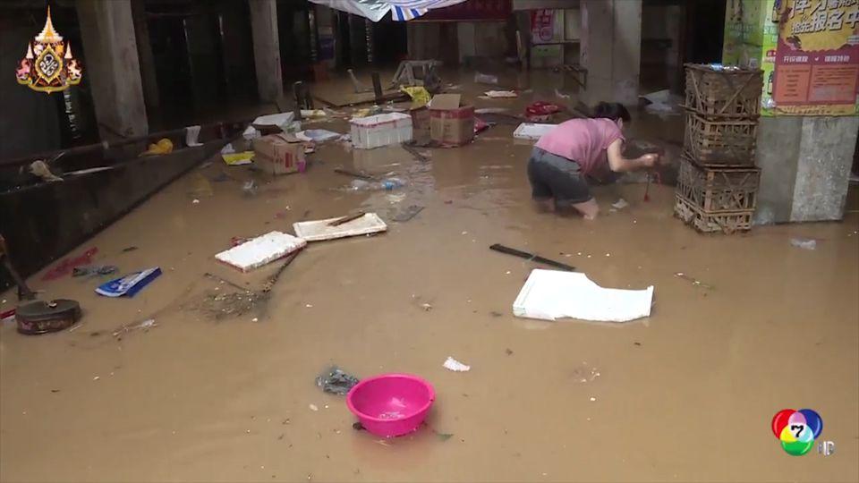 สถานการณ์น้ำท่วมหนักในมณฑลฝูเจี้ยน ของจีน ยังคงวิกฤติ
