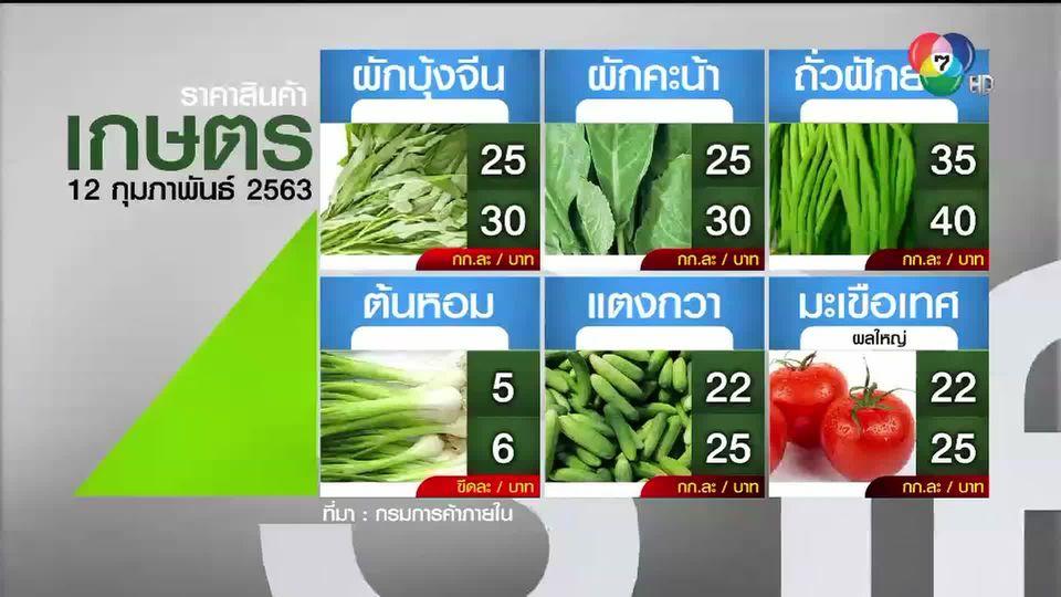 ราคาสินค้าเกษตรที่สำคัญ 12 ก.พ.2563