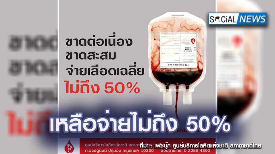 วิกฤตหนัก! พิษโควิด-19 ทำคลังเลือดขาดแคลน เหลือจ่าย รพ.ไม่ถึง 50%