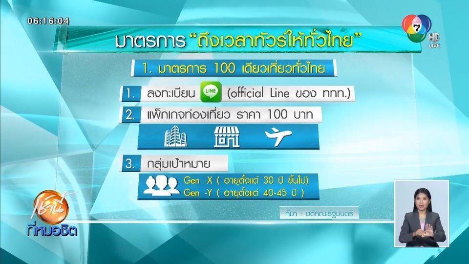 รัฐบาลผุดมาตรการกระตุ้นท่องเที่ยว ร้อยเดียวเที่ยวทั่วไทย