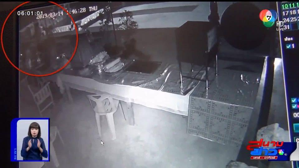 กล้องวงจรปิดจับภาพคนร้ายแสบ บุกขโมยเงินตู้บริจาควัด ใน จ.อุทัยธานี