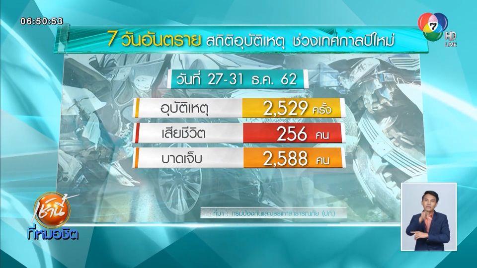เผยสถิติ 5 วัน เทศกาลปีใหม่ เกิดอุบัติเหตุรวม 2,529 ครั้ง สาเหตุหลักเมาแล้วขับ
