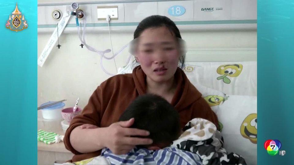 เด็กชายชาวจีนวัย 3 ขวบเผลอกลืนแหวนเพชรลงท้อง