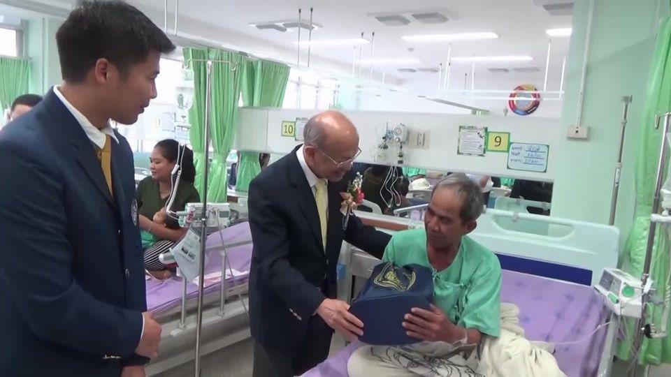 องคมนตรี ไปตรวจเยี่ยมโรงพยาบาลสมเด็จพระยุพราชเลิงนกทา จังหวัดยโสธร