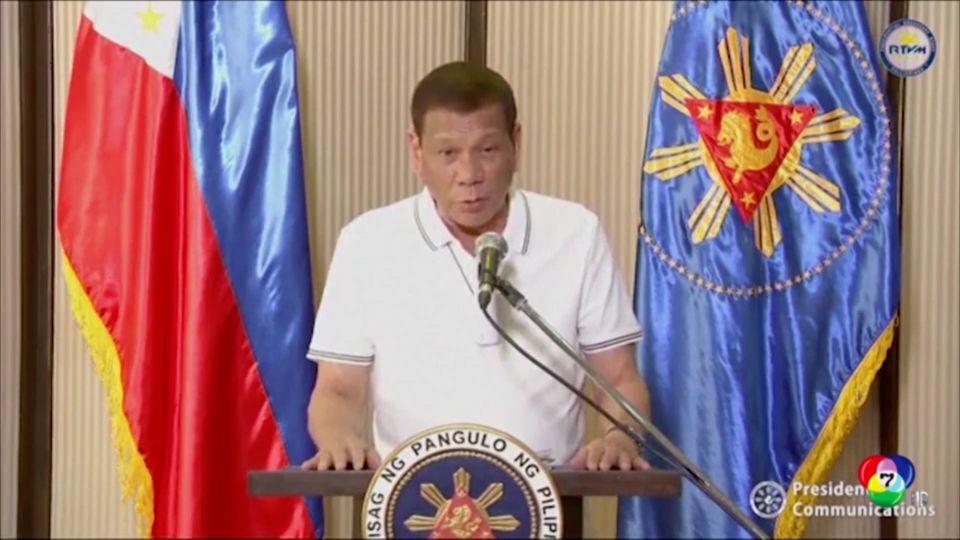 ผู้นำฟิลิปปินส์ประกาศจัดการขั้นเด็ดขาดผู้ก่อจลาจล ขณะโควิด-19 ระบาด