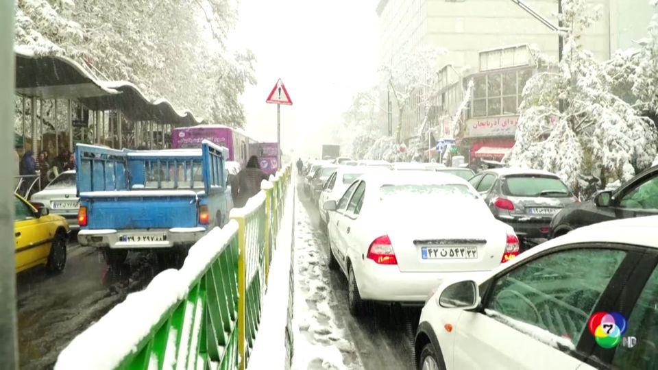 หิมะตกหนักในอิหร่าน-ออสเตรีย