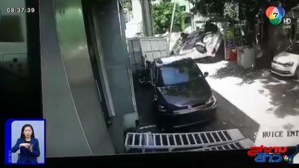 ภาพเป็นข่าว : สุดเสียดาย! หนุ่มอินเดียออกรถใหม่ ไปไม่ถึง 5 เมตร ชนยับคาศูนย์บริการ