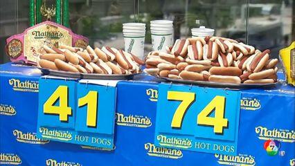 สหรัฐฯ เตรียมจัดแข่งกินฮอทด็อก ฉลองวันชาติ