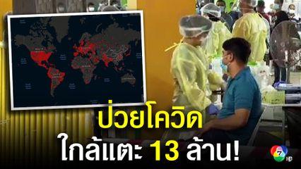 ป่วยติดเชื้อโควิด-19 ทั่วโลก ใกล้แตะ 13 ล้านคน