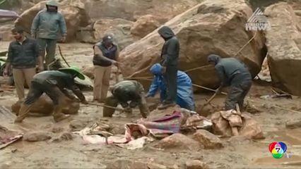 ฝนตกหนักเป็นเหตุดินถล่มในอินเดีย เสียชีวิตนับสิบคน