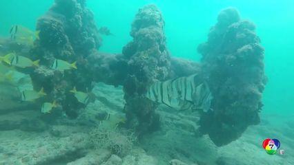 นักโบราณคดีพบซากเรือโบราณนอกชายฝั่งเม็กซิโก