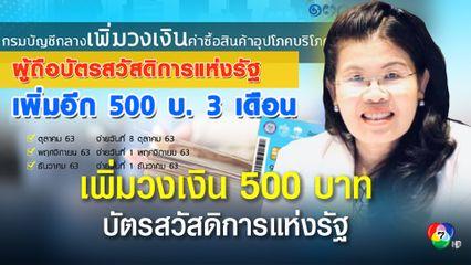 เริ่มรับเงินได้แล้ววันนี้ เงินเพิ่ม 500 บาทบัตรสวัสดิการแห่งรัฐ