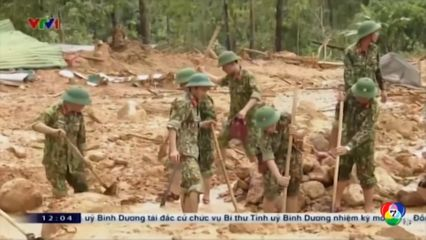 เหตุดินสไลด์ที่เวียดนาม หลังเกิดน้ำท่วมหนัก
