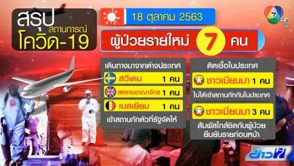 สถานการณ์โควิด-19 ในไทย พบผู้ติดเชื้อรายใหม่ 7 คน