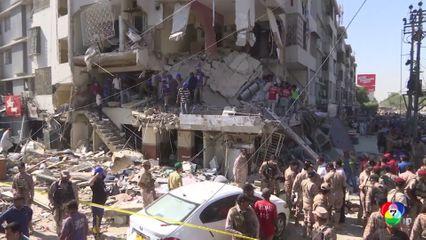 เกิดเหตุอาคารระเบิดในปากีสถาน ดับ 3 เจ็บ 15 คน