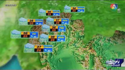 พยากรณ์อากาศวันนี้ 9 กรกฎาคม 2563