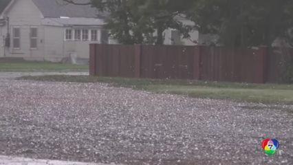 พายุลูกเห็บขนาดใหญ่พัดถล่มในสหรัฐอเมริกา