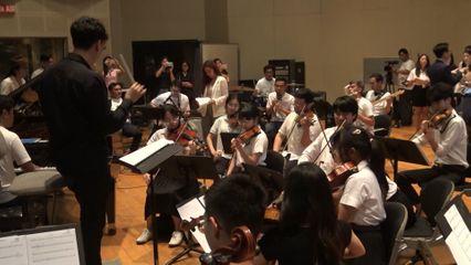 ฝึกซ้อมวงดนตรีออร์เคสตรา ต้อนรับ สมเด็จพระสันตะปาปา เสด็จเยือนไทย